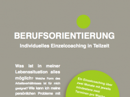 Berufsorientierung: Individuelles Einzelcoaching in Teilzeit